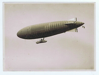 AIRSHIP Official Photograph WW1 FRENCH Navy Derigible leaves French Navy Station