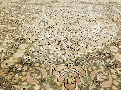 Exquisite 1940-1950's Semi-Antique Muted Dye 7x10ft Wool Pile Turkish Hereke Rug