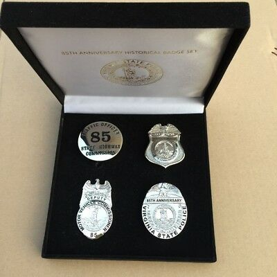 2017 Virginia State Police 85th Anniversary Badge Set Historical Collectible