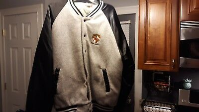 Maryland State Police Light Weight Jacket 2X Baseball Style Black And Grey