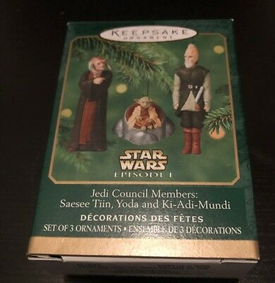Hallmark ~ Jedi Council Members ~ Mini Keepsake Ornaments ~ Star Wars