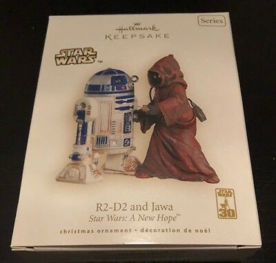 2007 Star Wars R2-D2 and Jawa Hallmark Keepsake Ornament
