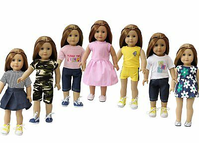 Outfits Clothes for American Girl 18 Inch 7  Doll Accessories Set Lot Bday Gift