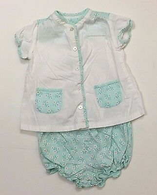 Janie & Jack EUC Size 6-12 Months Cherry Blossom Bloomers Top Outfit HTF Rare