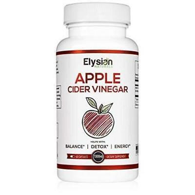 Premium Apple Cider Vinegar Capsules - All Natural Weight Loss Pills - Non-GMO