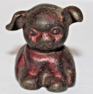 Antique Cast Iron Bucki Carbon Ribbons Dog Paper Weight