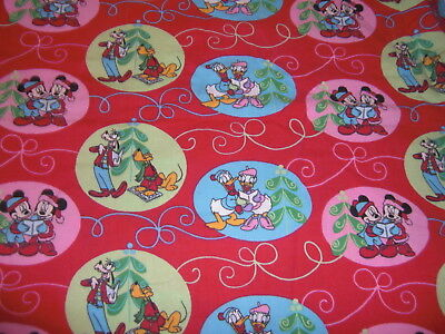 "Mickey Mouse Donald Goofy & Others LONG 21x50"" body pillowcase Christmas Theme"