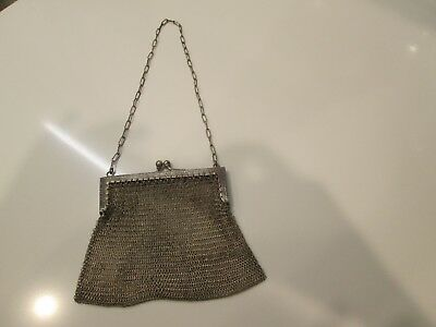 German Silver Mesh Steel Purse