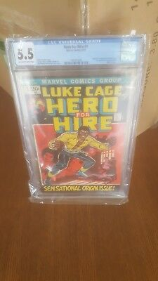 Hero for Hire #1 cgc 5.5 1972 Marvel 1st appearance luke cage netflix show rare!