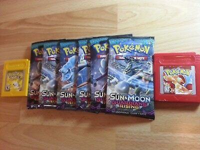 Pokemon TCG Sun and Moon Guardians Rising 6 Booster Pack Lot. Sealed.