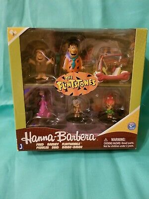 "The Flintstones Hanna Barbera 2"" Box Set of 6 PVC Figures"
