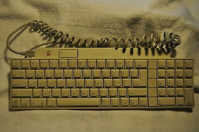 Vintage APPLE Desktop Bus Keyboard Model No. A9M0330 Made In Taiwan w/ org cable