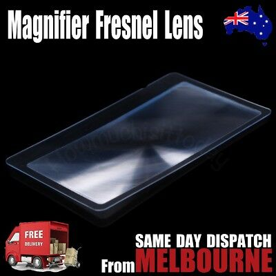 NEW Magnifier Credit Card Fresnel Lens Magnifying Sheet Survival Fire Lighting