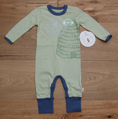Burt's Bees Baby Boy Lightweight Non Footed Coverall~Organic Cotton~Green & Blue