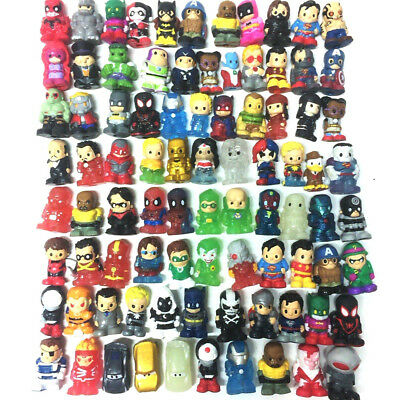 Random 50PCS Ooshies DC Marvel TMNT Pencil Topper Figure Doll Gift all different