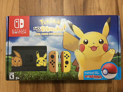 Nintendo Switch Pikachu & Eevee Edition Pokemon: Let's Go Pikachu Bundle