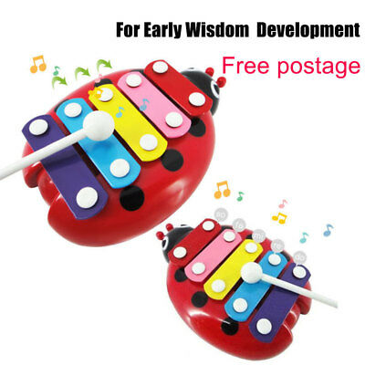 Beetle Knocking 5-Note Xylophone Musical Toy For Baby Kids Development Cute Toys