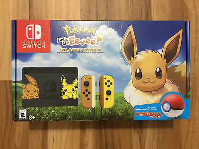Nintendo Switch Pikachu & Eevee Edition Pokemon: Let's Go Eevee Bundle