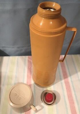 Retro Vintage Harvest Gold THERMOS Vacuum Bottle !!GREAT QUALITY!! (#000)
