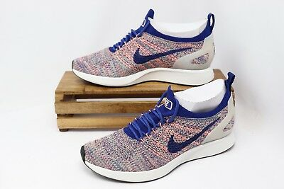 aa3998745b487 Nike Women s Air Zoom Mariah Flyknit Racer Running Shoes Blue White AA0521 -400