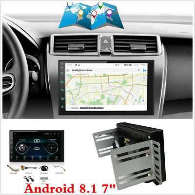 "7"" Double 2 Din Android 8.1 Car Stereo Radio GPS SAT NAV WiFi 3G 4G OBD MLK BT"