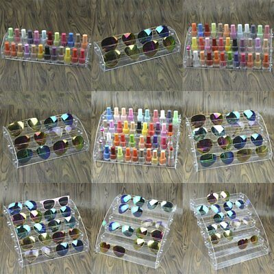 Multi-Layers Transparent Lipstick Nail Polish Holder Display Stand Rack RPG