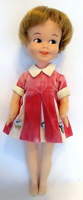 "Vintage 1960s Deluxe Reading 8"" PENNY BRITE Vinyl Doll w/Original Dress"