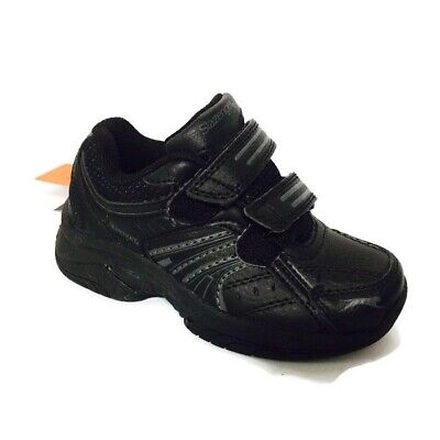 Slazenger Baseline black kids'  leather trainers (infant sizes) Uk6-9
