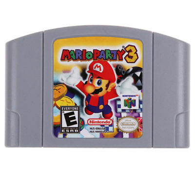 For Nintendo N64 Game Mario Party 3 Video Game Cartridge Console Card New 2018
