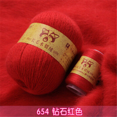 50+20g Extra Soft Plush Mink Hair Yarn Premium Hand Knitting Crochet Thread