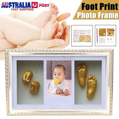 Photo Frame Baby Hand & Foot Print Casting Kit DIY 3D Unique Keepsake Shadowbox