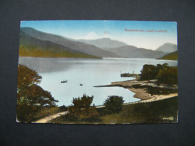 Old Valentines PC of Rowardennan, Loch Lomond, Stirlingshire. Posted 1925.