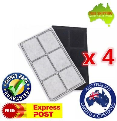 4x Replacement Charcoal Filter for Petsafe Drinkwell Big Dog/Multi-Tier Fountain