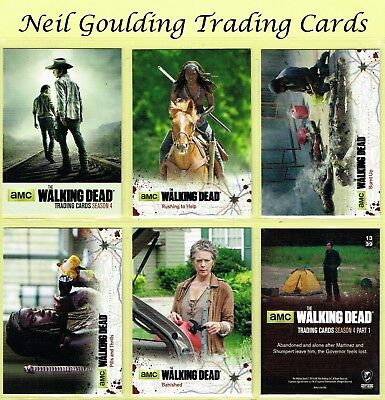 The Walking Dead - SEASON 4 PART 1 ☆ BLACK PARALLEL ☆ Trading Cards #1 to #72