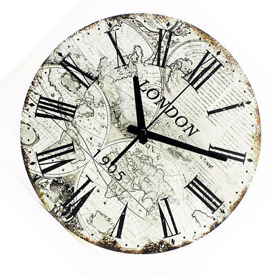 Modern Abstract Glass Large Kitchen Bedroom Wall Clock Battery Operated Decor