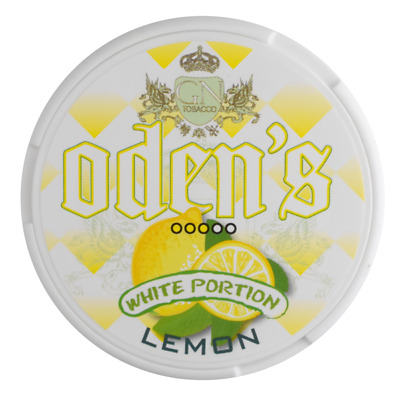Zwei Stangen (20 Dosen) Odens Lemon White Portion Chewing Bags / Snus