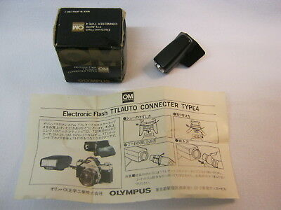 Olympus Electronic Flash TTLAUTO Connector Type 4  Adapter for OM1N etc
