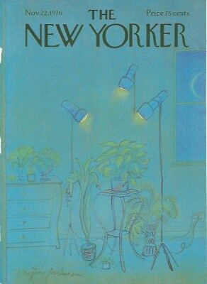 COVER ONLY ~The New Yorker magazine  ~MIHAESCO ~November 22 1976 ~ Plants lights