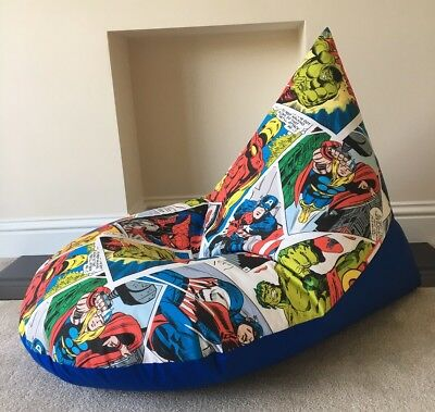 Brilliant Childs Childrens Chair Beanbag Gaming Reading Super Hero Gmtry Best Dining Table And Chair Ideas Images Gmtryco