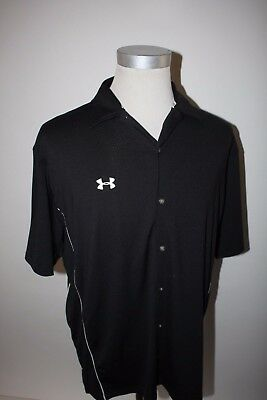 a992e9aa UNDER ARMOUR BLACK Full Button Outdoor Button Up Shirt Large L ...