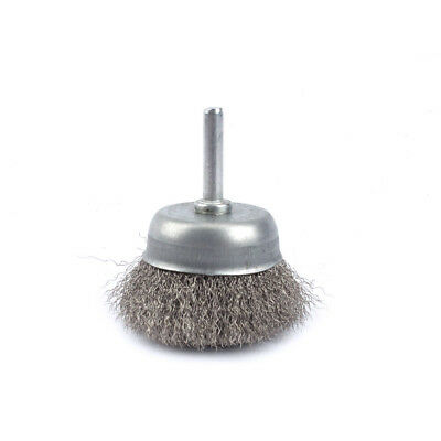 50mm Cup Stainless Steel Wire Polishing Brush For Rotary Buffing Tool 6mm Shank