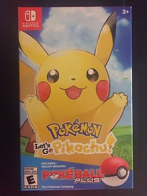 Pokemon: Let's Go, Pikachu Poke Ball Plus Pack / Bundle - Nintendo Switch