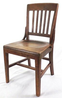 WH Gunlocke Vintage Wood Chair Wayland NY For Project or Restoration
