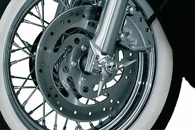 0214-0637 Axle Caps Spun Blade with Zombie Center Cap Spinner HD Fat Boy Softail