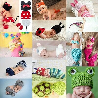 Costume Baby Girl Prop Newborn Crochet Boy Knit Outfits Hats Photography