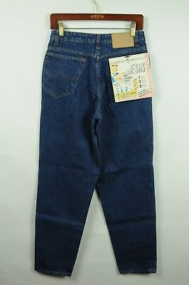 Vintage DEADSTOCK 80s Jesus 30x32 Denim Jeans made in Brazil
