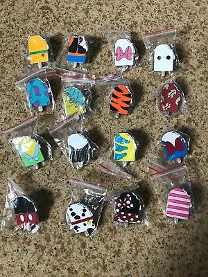 Disney Ice Cream ONLY Pin Lot of 16 with Lanyard!! US SELLER U pick Boy/Girl