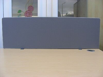 """LIGHT GREY PRIVACY SCREEN 47"""" x 15"""" DESK PARTITION DIVIDER OFFICE FURNITURE +"""