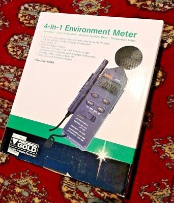 Environmental Meter measures Light, Sound, Humidity, Temperature! New Unopened