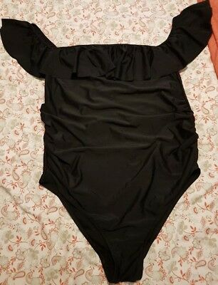 Boohoo Maternity Off The shoulder Swimming Costume Size 14